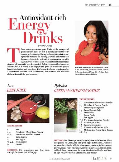 Healthy Living Magazine - Antioxidant-Rich Energy Drinks