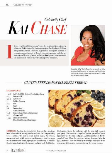 Healthy Living Magazine - Gluten-Free Lemon Blueberry Bread