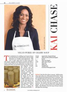 Healthy Living Magazine - Vegan Puree of Celery Soup
